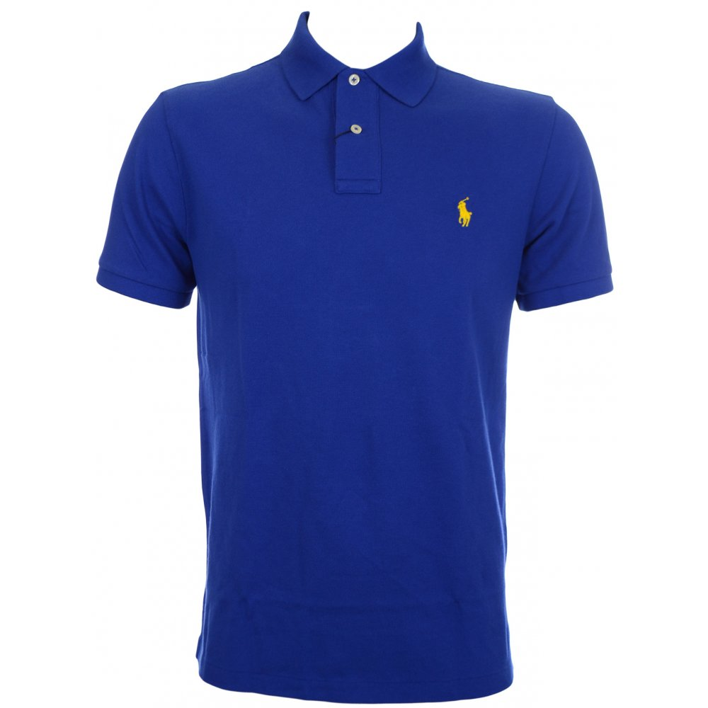 Polo Ralph Lauren Slim Fit Active Royal Blue Polo Shirt - Clothing ... d9f13ff767db