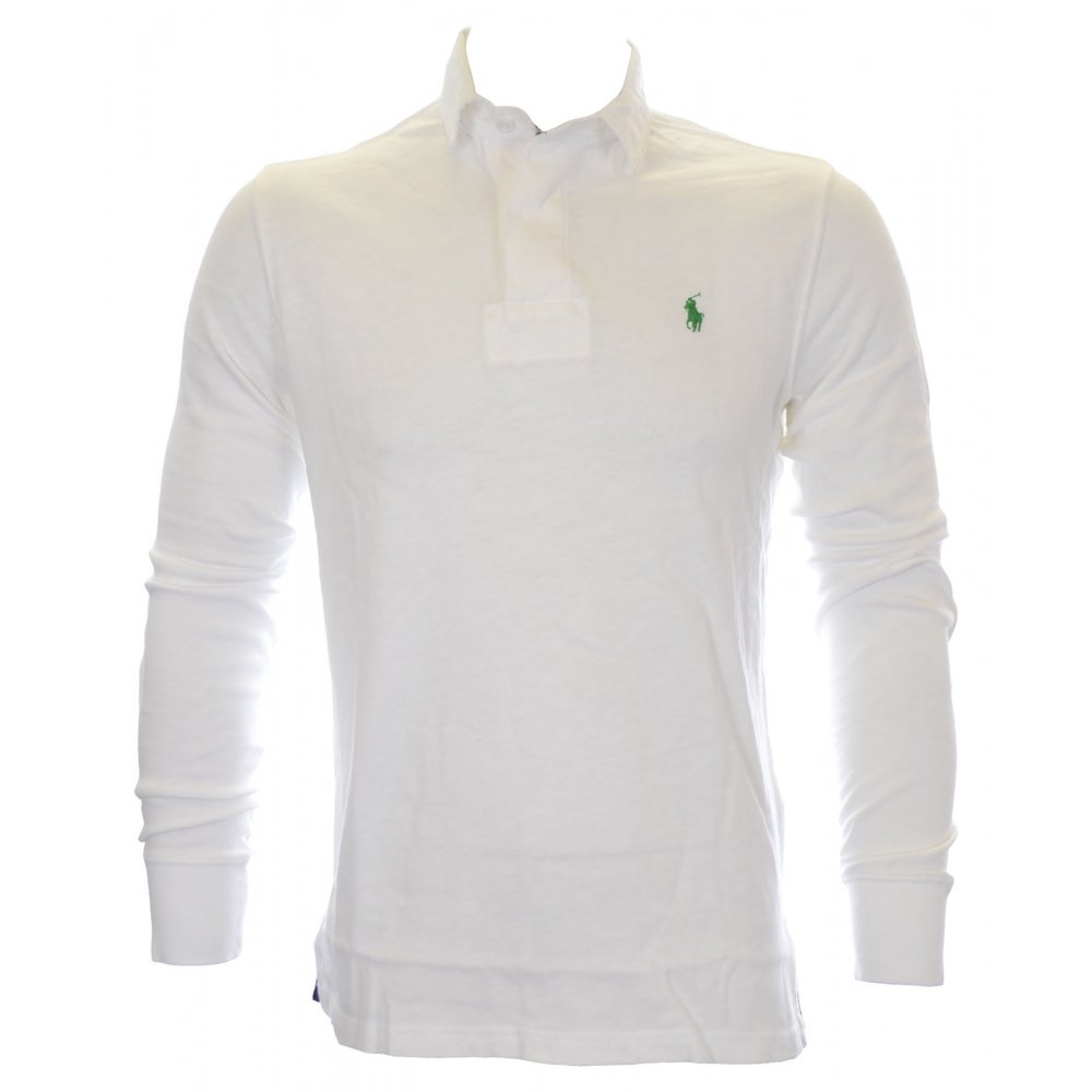 ad01bb2c61ac Polo Ralph Lauren Slim Fit Rugby Solid Classic Oxford White Polo ...