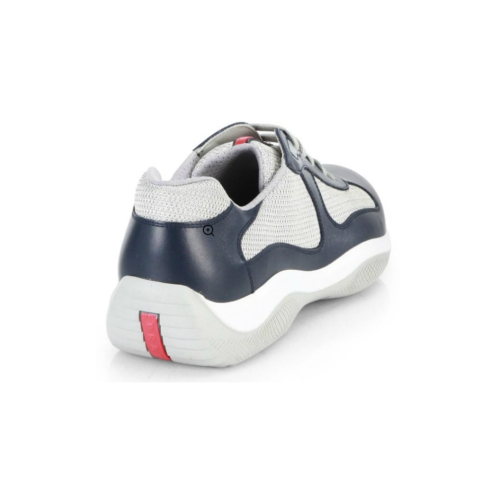 Prada Leather America s Cup Mesh Navy Trainers - Footwear from N22 ... d63ae35f7