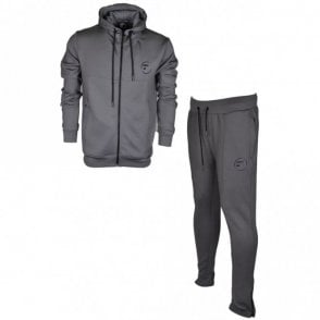 Elite Polyester Hooded Grey Tracksuit
