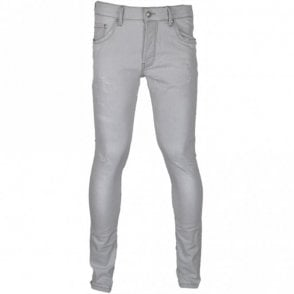 Ripped Slim Fit Light Grey Wash Jeans