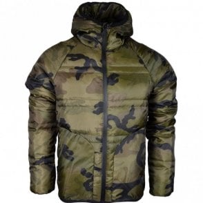 Balic Lightweight Green Camo Hooded Jacket