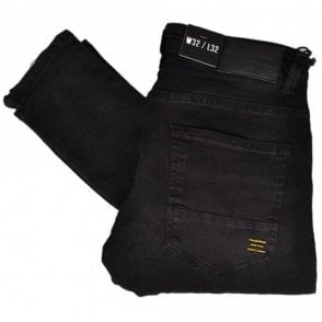 Buell Stretch Skinny Fit Black Jeans