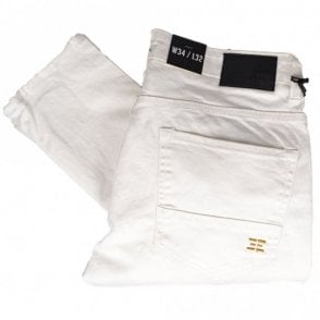 Buell Stretch Skinny Fit White Jeans