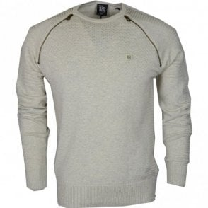Champ Ribbed Cotton Ecru Jumper