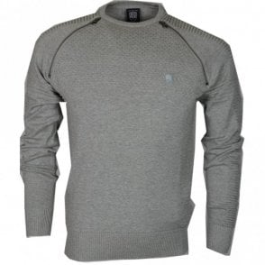 Champ Ribbed Cotton Marl Grey Jumper