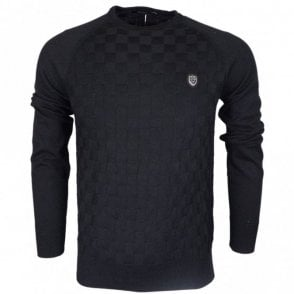 Charmer Cotton Black Knitwear Jumper