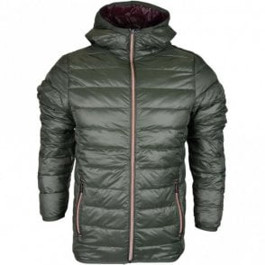 Downer Lightweight Green Hooded Jacket