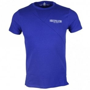 Forge Round Neck Cotton Electric Blue T-Shirt