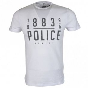 Gaz 18A Regular Fit Round Neck White T-Shirt