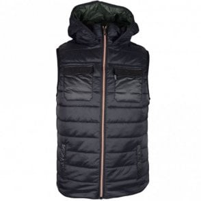 Marco Lightweight Black Hooded Gillet
