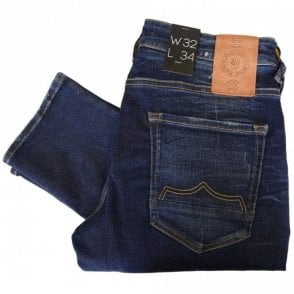 Moriarty LA 359 Ripped Dark Washed Slim Fit Jeans