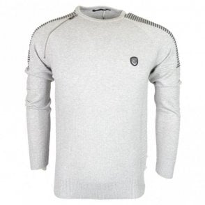 Nozzo Ribbed Cotton Grey Marl Jumper