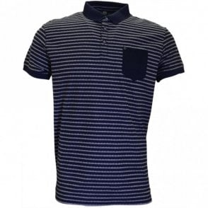Royce Stripe Navy Polo