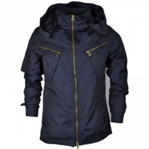 Spectre Lightweight Navy Hooded Zip Jacket