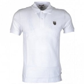 Trapper Pima Cotton White Polo