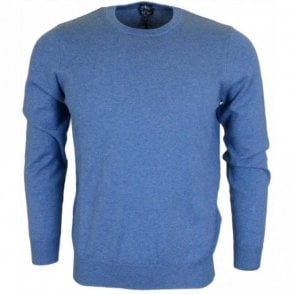 06W76 Round Neck Blue Melange Jumper