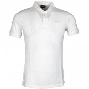 3Y6F03 Pique Cotton Slim Fit White Polo