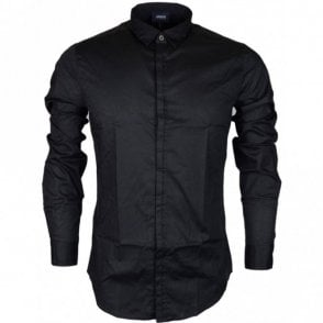 6Y6C70 6NANZ Slim fit Long Sleeve Black Shirt
