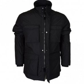 6Y6K75 6NLJZ Multi Pocket Zip Black Jacket
