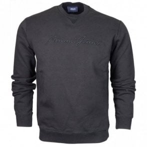 6Y6M02 Round Neck Black Sweatshirt