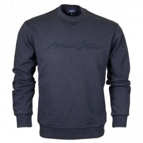 6Y6M02 Round Neck Navy Sweatshirt