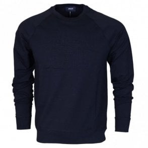 6Y6M08 Round Neck Thin Navy Sweatshirt