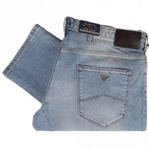 8N6J06 Slim Fit Stone Wash Jeans