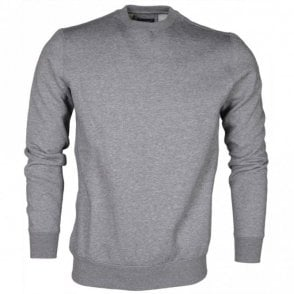8N6M19 Round Neck Grey Sweatshirt