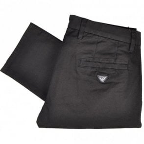 8N6P15 Slim Fit P15 Black Cotton Stretch Chino