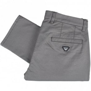 8N6P15 Slim Fit P15 Grey Cotton Stretch Chino