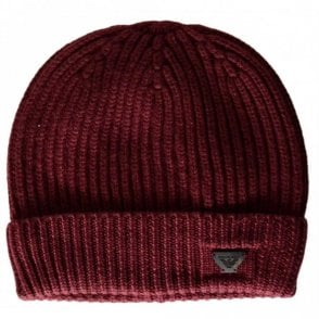 934029 Wool Red Beanie Hat