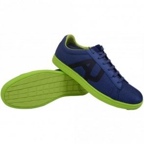 A6518 Blue Low Textile Trainer