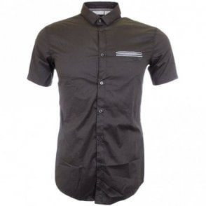 A6C76 Grey Short Sleeve Extra Slim Shirt