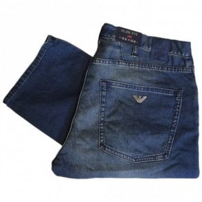 C6J84 Slim Fit J45 Blue Jeans