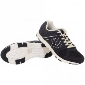 Runner Monochrome Mesh Black Trainer