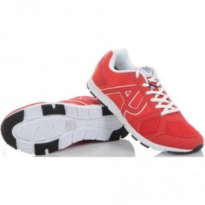 Runner Monochrome Mesh Red Trainer