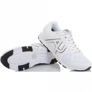 Runner Monochrome Mesh White Trainer