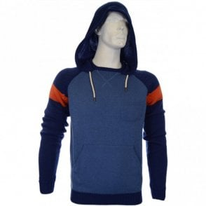 Two Tone Slim Fit Blue Hoodie