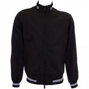 V6B03 Lightweight Black Zip Jacket