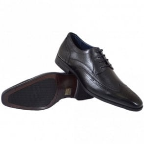 Catania Black Leather Shoes