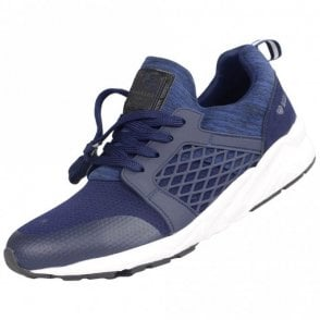 LOMBARD Mesh/Rubber Navy Trainer