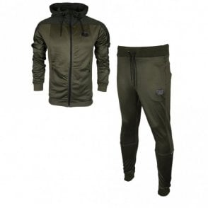 Pardo Mcnair Hooded Polyester Zip Up Olive Night Green Tracksuit