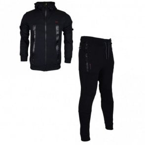 Smalling Redknapp Hooded Zip Up Black Tracksuit