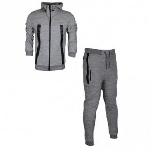Smalling Redknapp Hooded Zip Up Grey Tracksuit