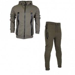 Smalling Redknapp Hooded Zip Up Khaki Tracksuit