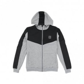 Smithsonite Zip Grey Marl Hoodie