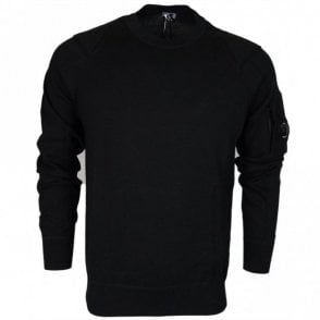 04CMKN012A Lens Crew Neck Cotton Black Knitwear
