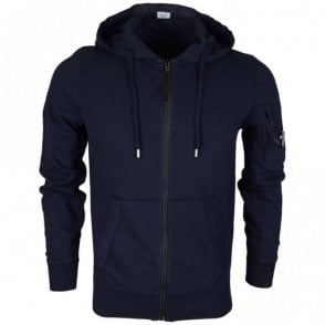 04CMSS052A Lens Zip Up Cotton Navy Hoodie