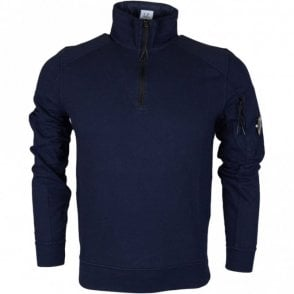 04CMSS054A Lens Zip Up Cotton Navy Fleece